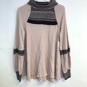 NEW Free People Snow Day Balloon Sleeve Sweater SM